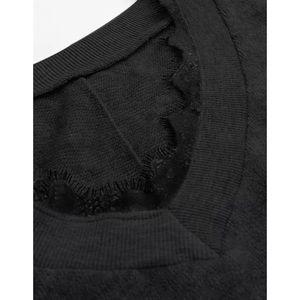 eb21480087 SHEIN Sweaters | Contrasting Lace Trim V Neck Sweater | Poshmark